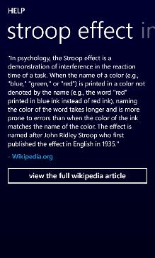 Stroop Effect Screenshot 7