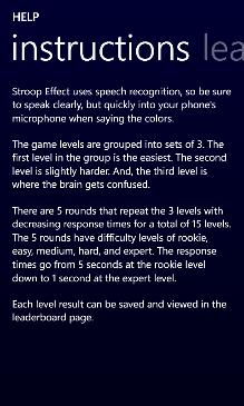 Stroop Effect Screenshot 8
