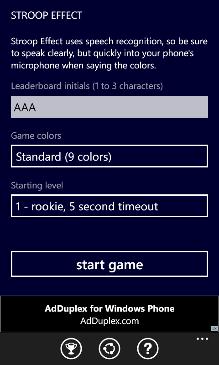 Stroop Effect Screenshot 2